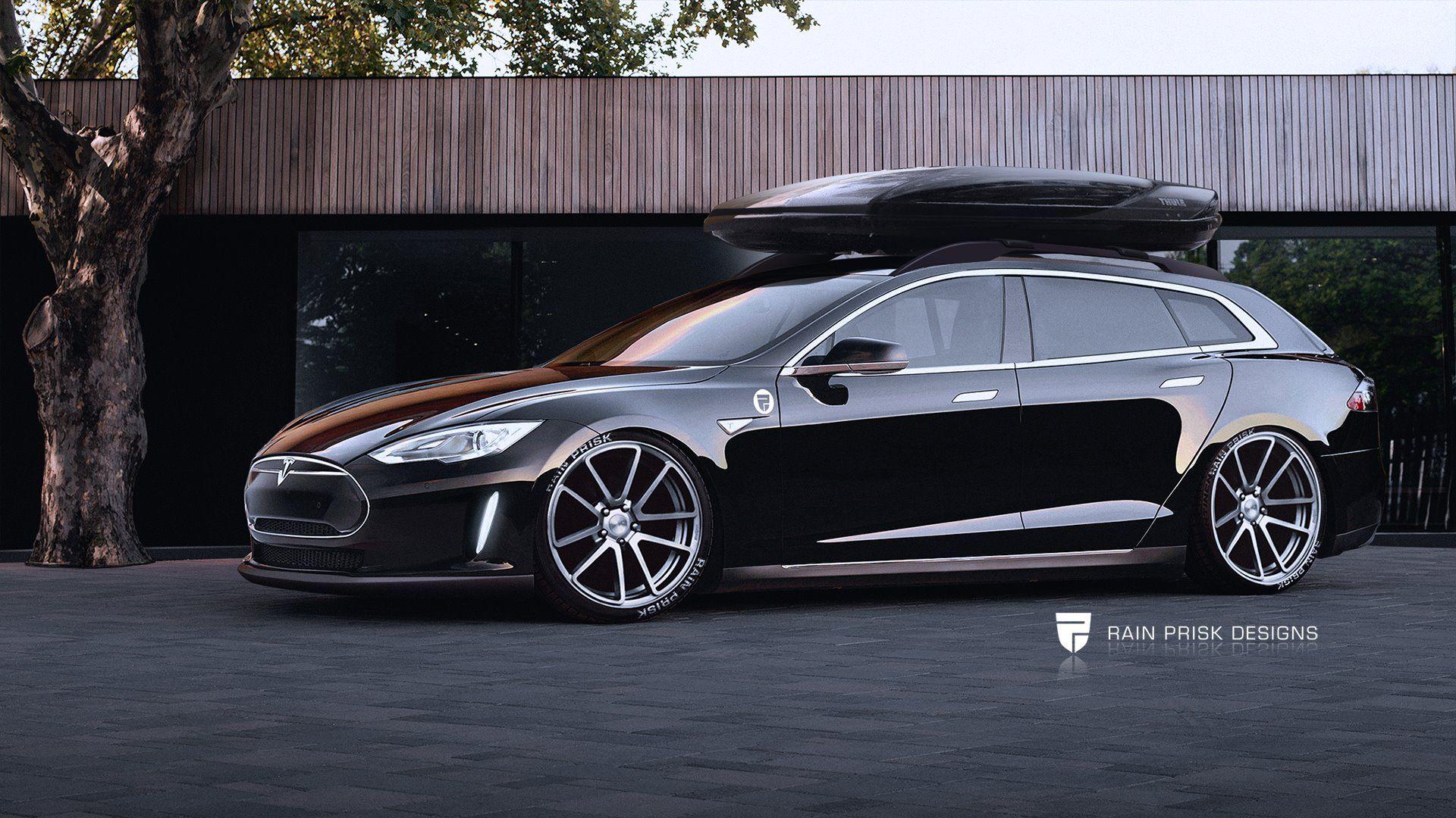 Design of tesla car - Tesla Model S Wagon Render Credit Rain Prisk Designs