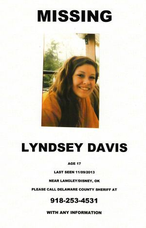 MISSING! 11/9/2013: Lyndsey Davis, 17, is missing from
