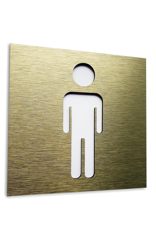 Gold Aluminium Male Bathroom Wall Door Sign Men Restroom Sticker Wc Toilet Signage Plaque Bathroom Signs Toilet Signage Restroom Sign
