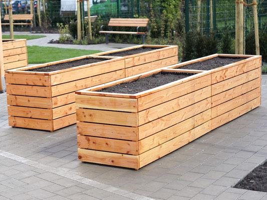 Hochbeet Nach Mass Direkt Vom Hersteller Holzweise In 2020 Balcony Planters Outdoor Raised Planter Boxes