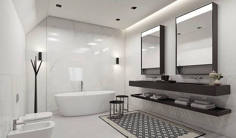 Salle de bain épuré Interior Bathroom Pinterest Interiors and - les photos de salle de bain
