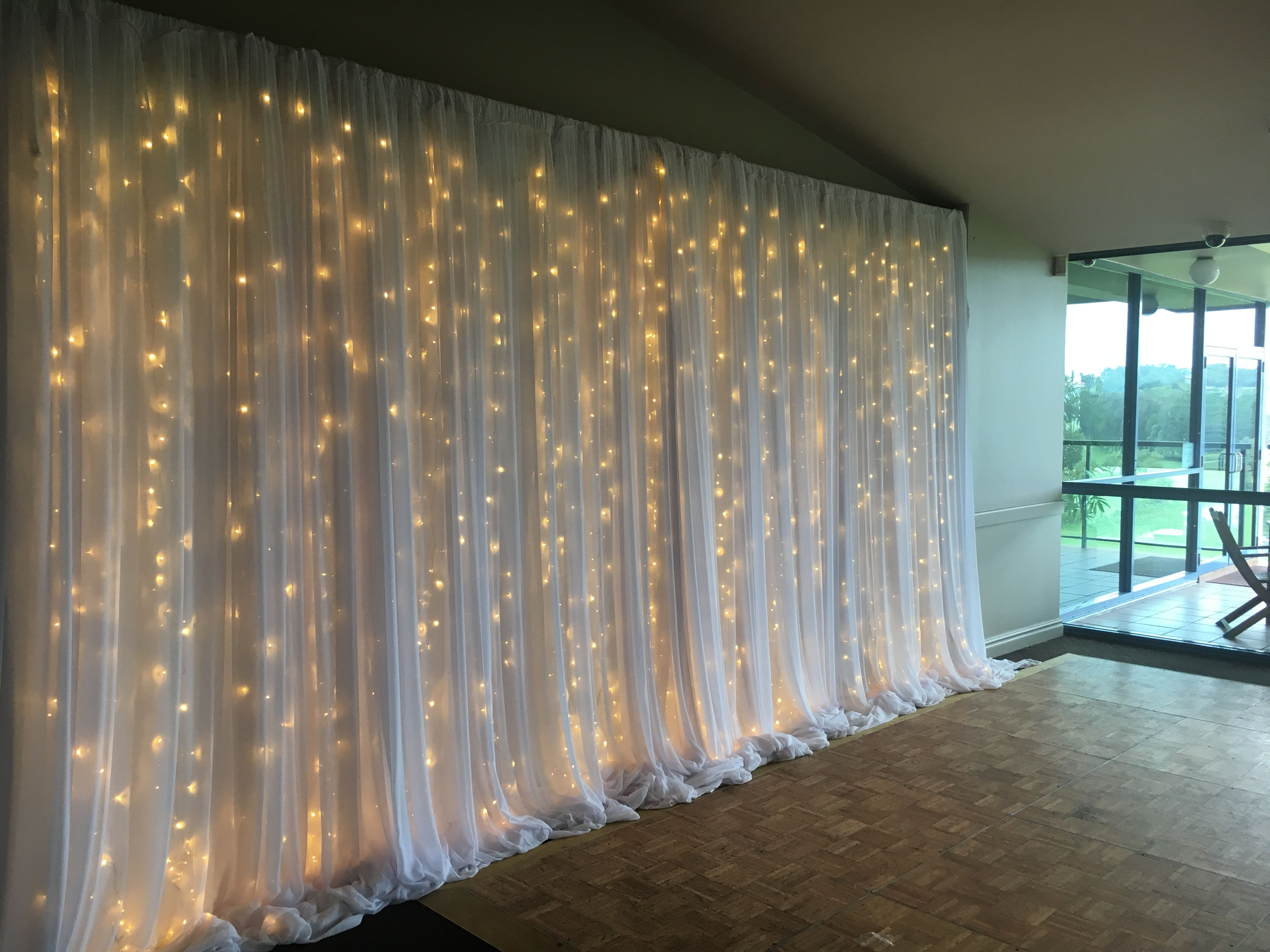 Little Miss Party Planner Fairy Light Curtain Set Up