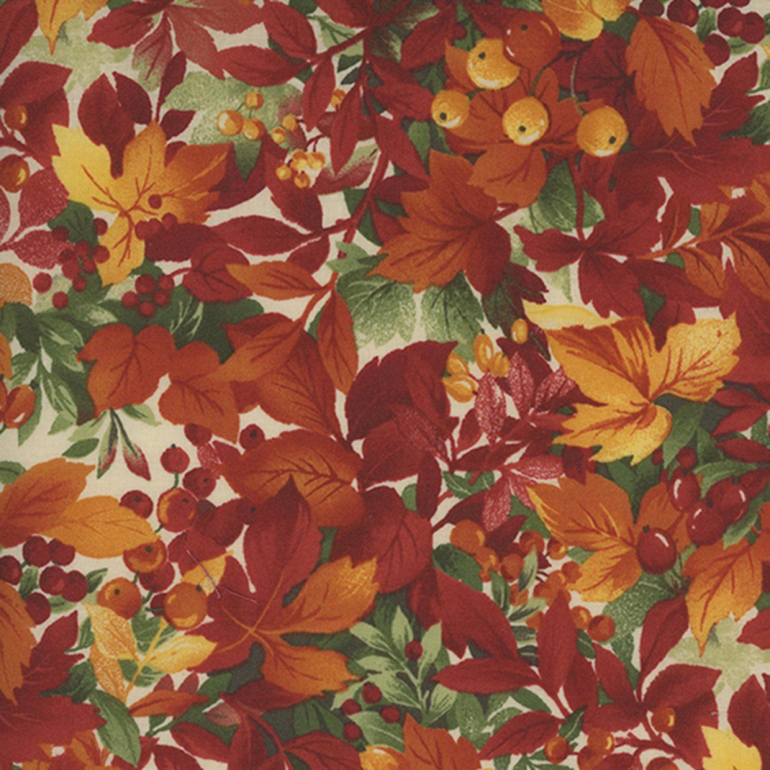 Red Berries /& Green Leaves Quilting Cotton Fabric Per FQ by FabrQquilt