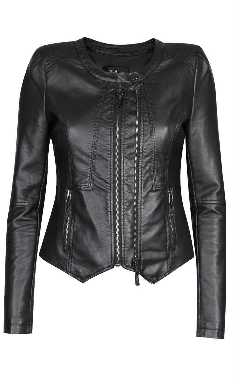 Black Friday Women'S Slim Fit Genuine Lambskin Leather