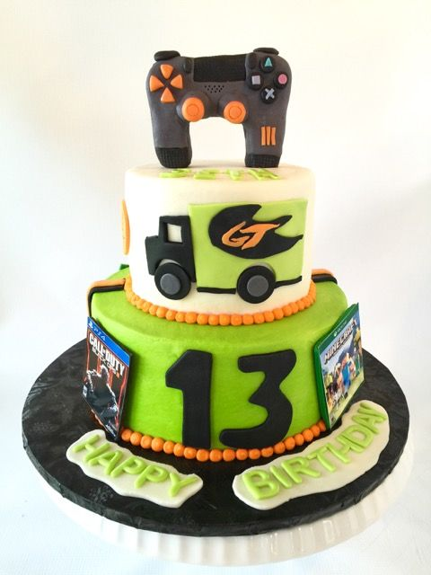 Strange Game Truck Themed Birthday Cake Game Truck Gaming Cake Cod Funny Birthday Cards Online Alyptdamsfinfo