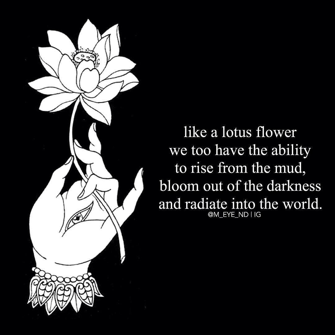 Get More Good Vibes Here Tumblr Wizdomly Quotes Lotus Flower