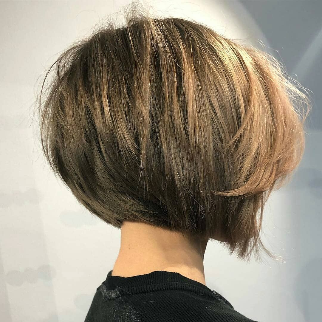 Simple Short Straight Bob Haircut Women Short Hairstyle For Thick Hair Concave Bob Hairstyles Bob Hairstyles For Thick Thick Hair Styles