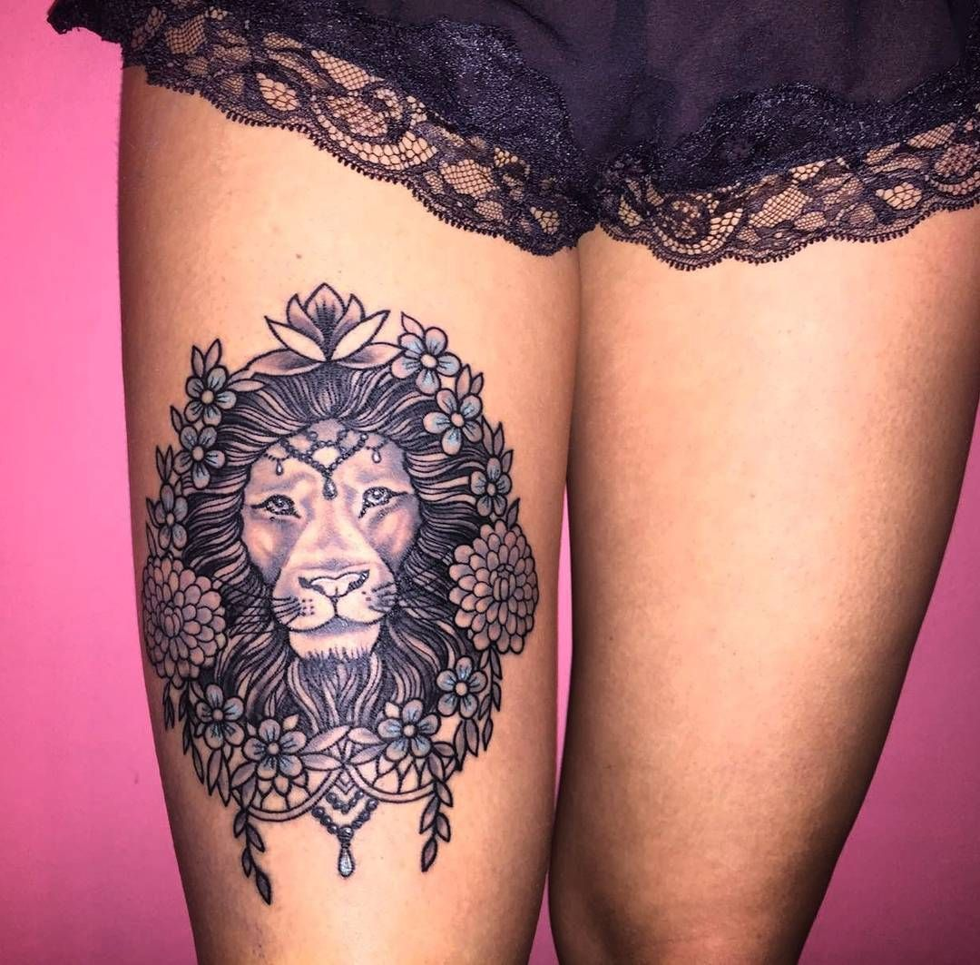 lion side tattoos for women - HD1080×1063