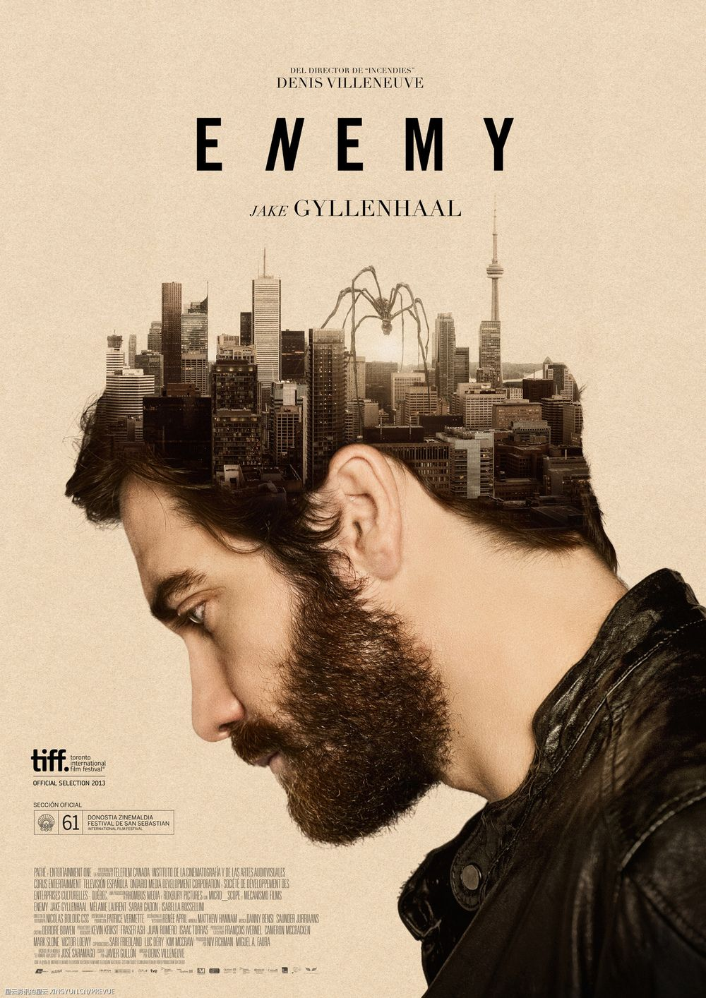 Enemy (2013) Theatrical release poster Film, Bokomslag