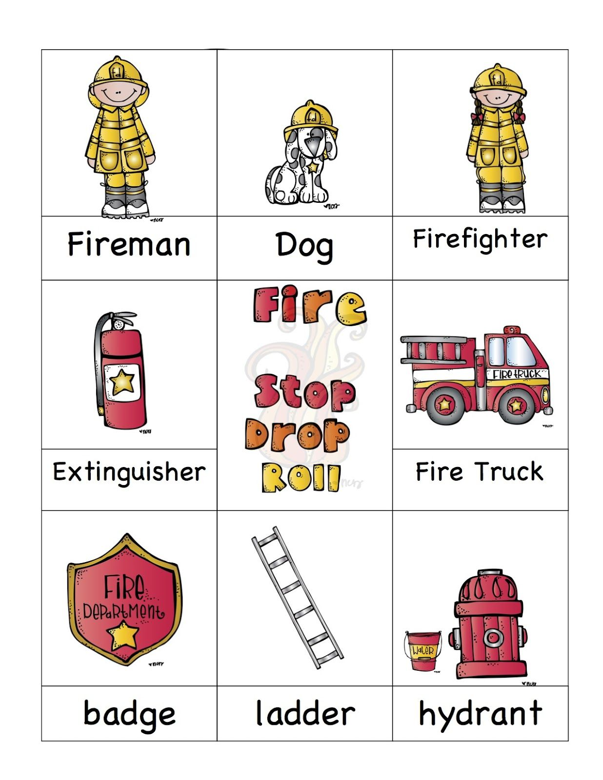 Fire Safety Printable. Also has great Halloween stuff up too. Great ...