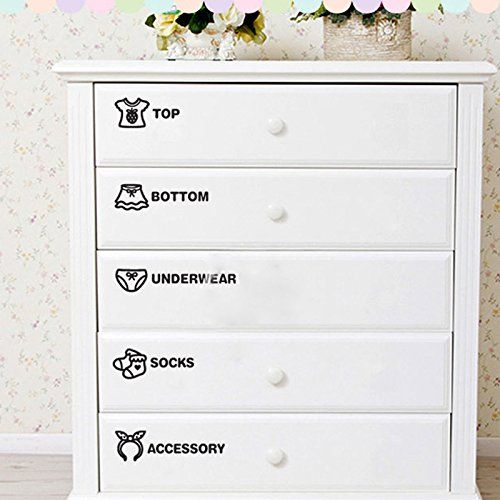 Labeling Kids Clothes Drawers Encourages Independence And Neatness As Kids Learn How To Take Care Of The Clothes Drawer Kids Clothes Organization Drawer Labels