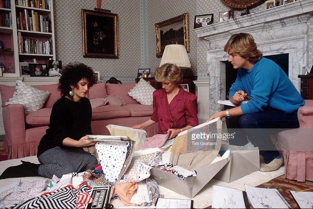 Princess Diana At Kensington Palace With Fashion Designers