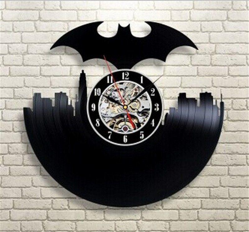 Batman City Vinyl Record Wall Clock Wall Clock Hanging Vinyl Record Clock Batman Wall