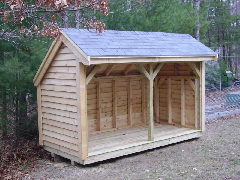 Simple Firewood Storage Shed Plans