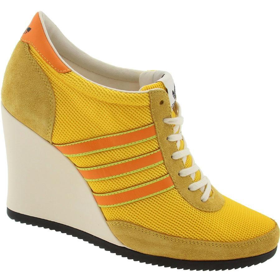 Adidas Womens ObyO JS Arrow Wedge - Jeremy Scott (pure yellow   light  orange   black) G61075 -  199.99 d398ef885a38