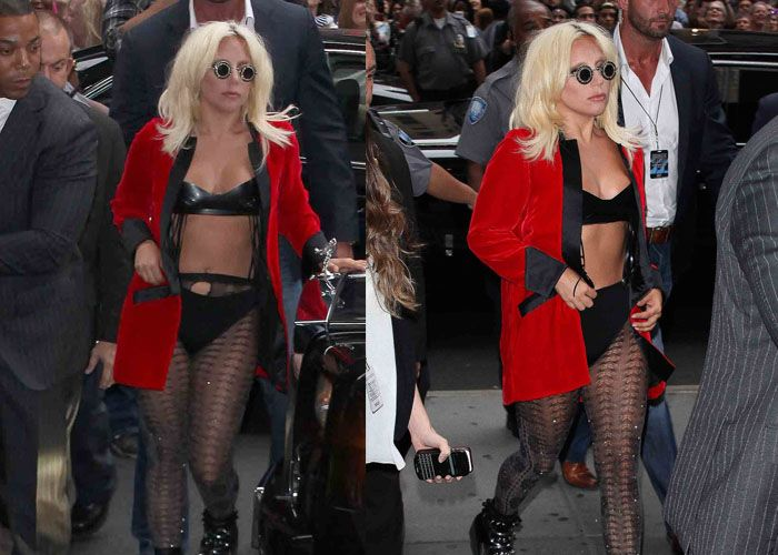 Lady Gaga at Formal Awards Night in Undies and Flatforms Lady - formal memo