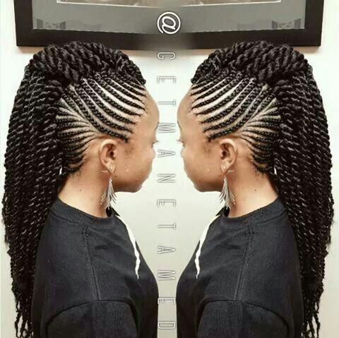 Braid Mohawk Braided Mohawk Hairstyles Cornrow Hairstyles Natural Hair Styles