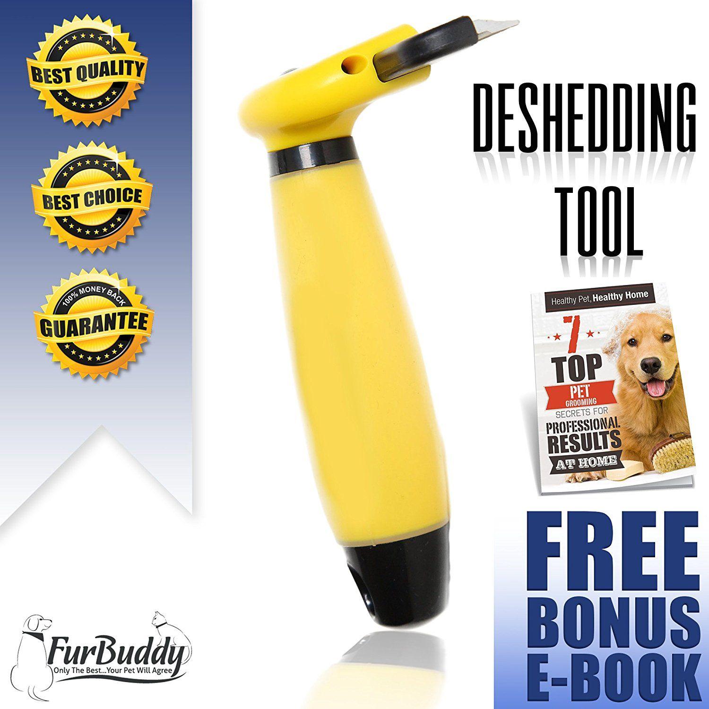 FurBuddy Pet Grooming deShedding Tool Reduces Shedding on