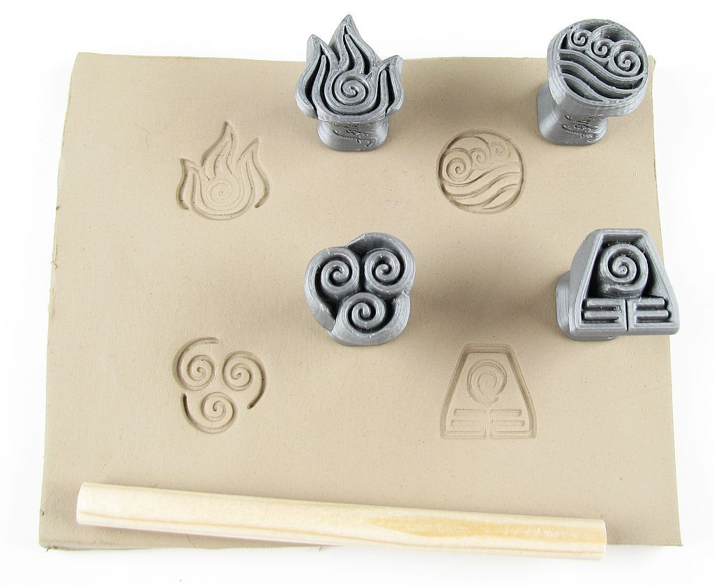Set contains stamps of four elements (earth, water, air, fire). Stamps are suitable for professional potters, beginners or even kids. Use is easy and makes an amazing impression, due to it you get a lot of inspiration and ideas for pottery making. Tools are also used for polymer clay. #ceramicstudio #ceramics #ceramicdesignideas #pottery #potteryinspirations#potteryclasses #clay #clayart #claycrafts #claycreations #potteryideas #PotteryKitsforBeginner #PotteryKitsforKids #PotteryKits #keramika