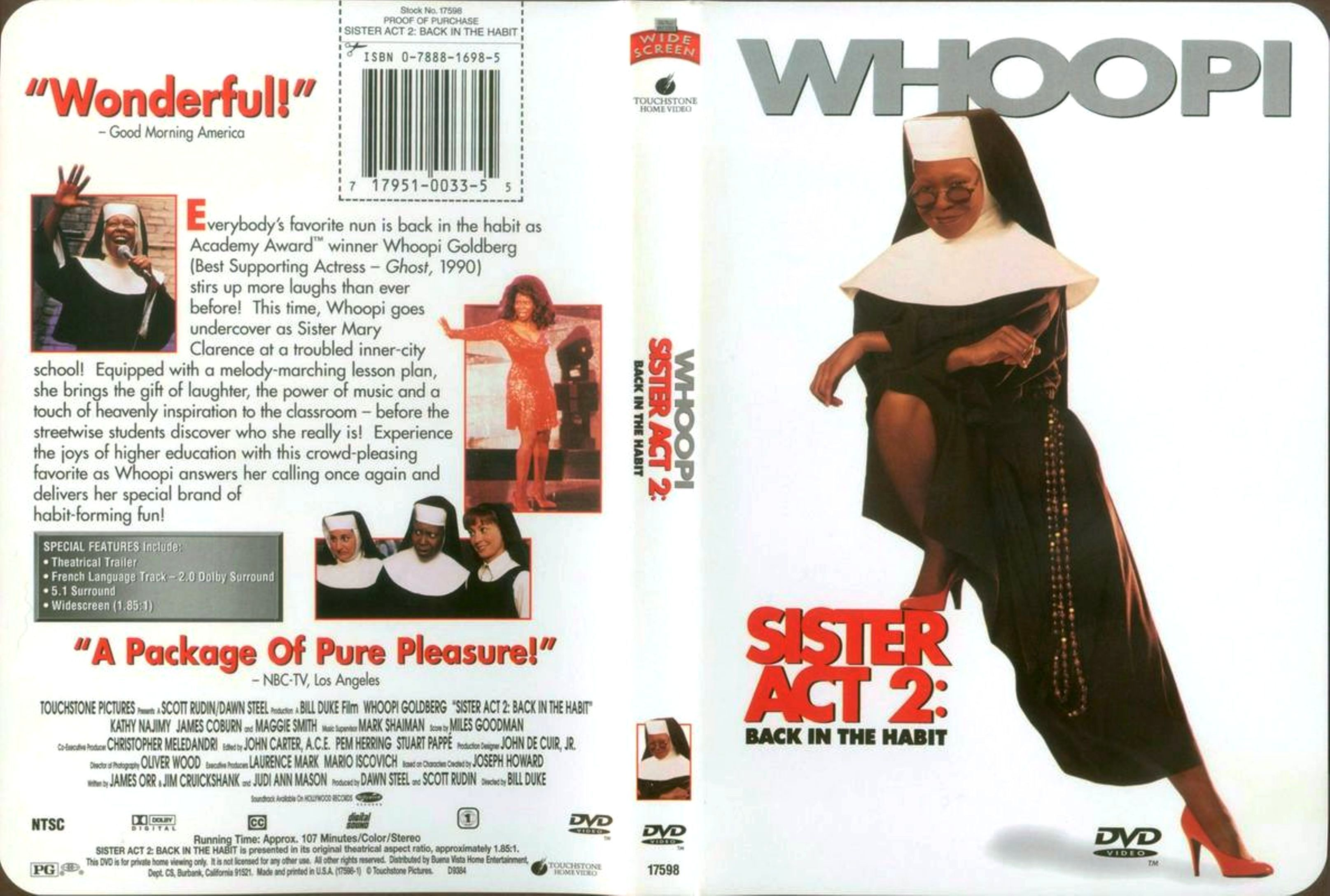 Class Act Movie Quotes: Sister Act Sister Act 2 Back In The Habit Dut Front Dvd