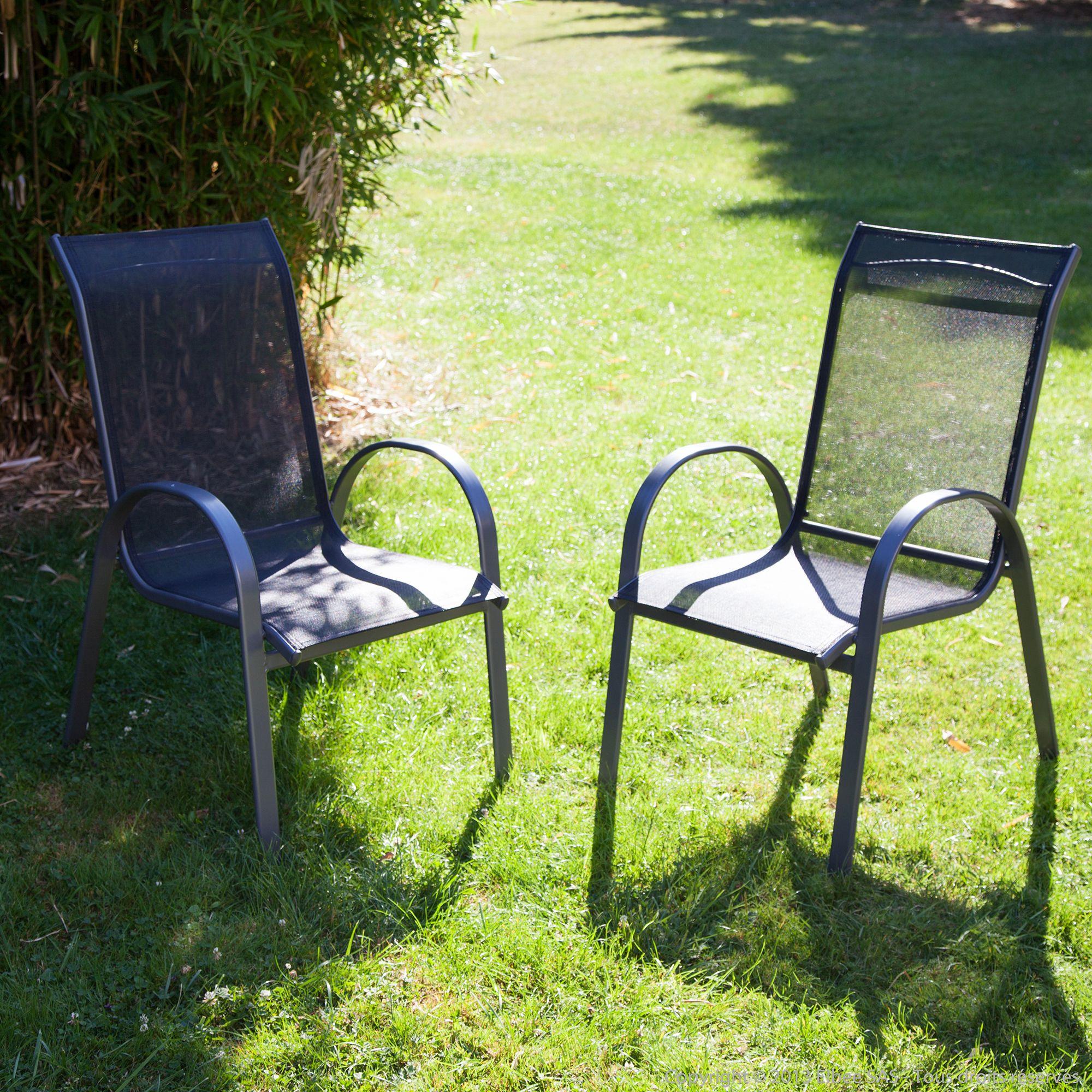 Fauteuils de #jardin en Aluminium / Textilène par SQUARELINE ...