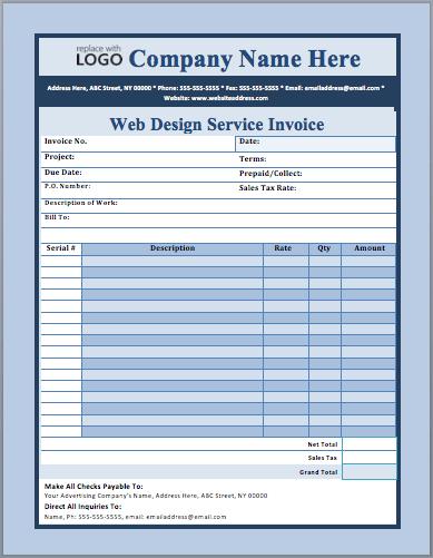 Web Design Service Invoice Template Web Design Services Invoice Template Web Design