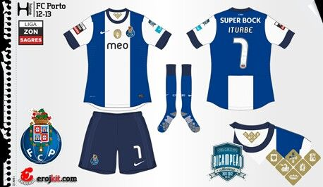 4a08e9d12 FC Porto home kit for 2012-13.