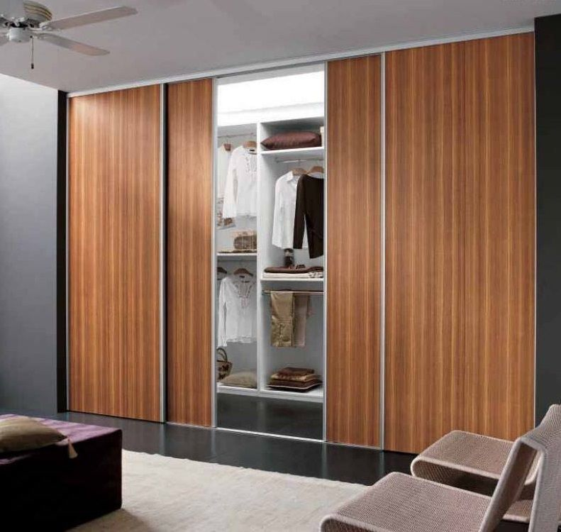 Fixed Wardrobe With Sliding Doors Hpd436   Sliding Door Wardrobes   Al  Habib Panel Doors