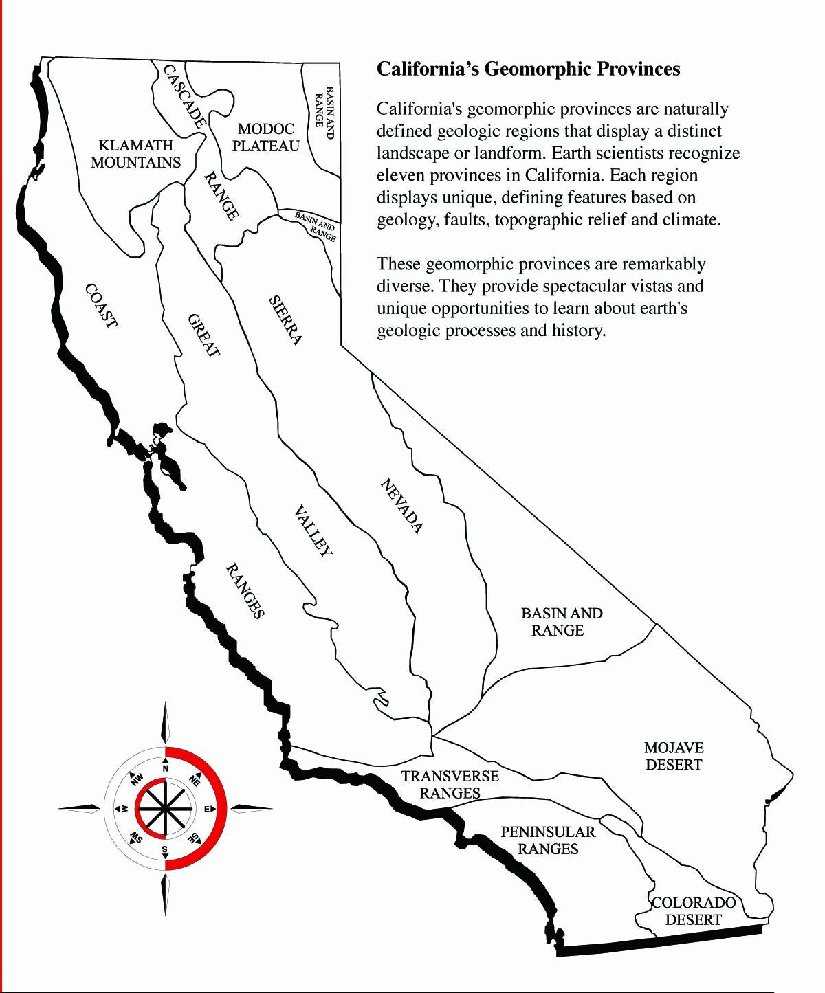 hight resolution of California Map Coloring Page Luxury Map to Use as Template for California  Relief Map   Geography lessons