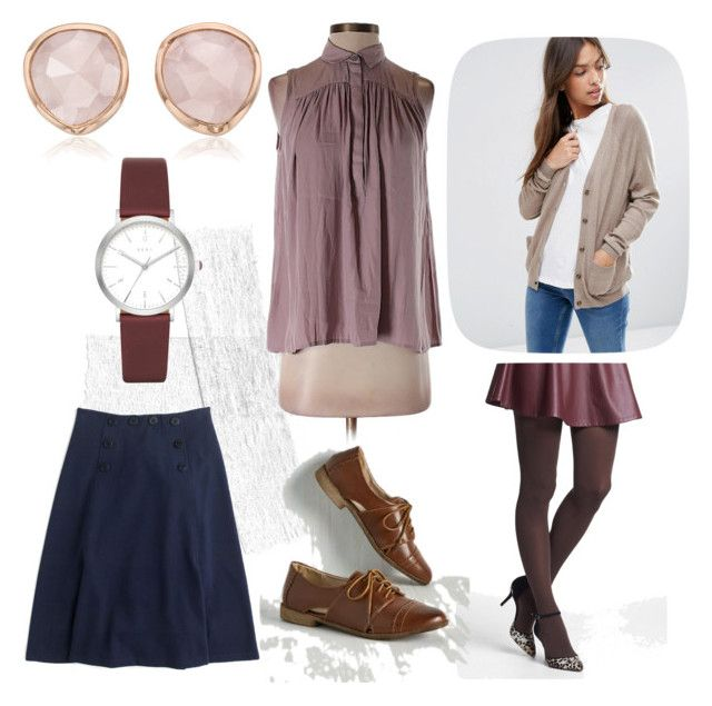 """""""Work #4"""" by jennym1277 ❤ liked on Polyvore featuring LOFT, ASOS, Nordstrom, Monica Vinader, DKNY, Restricted and J.Crew"""