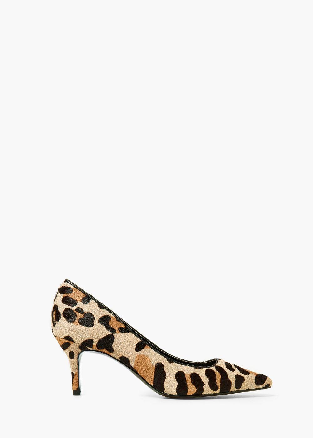 MANGO Animal print leather shoes 7ZCiY