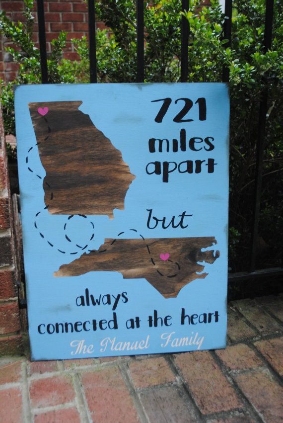 Going Away Gift Friend Moving Sign Painted Rustic Wood Sign With
