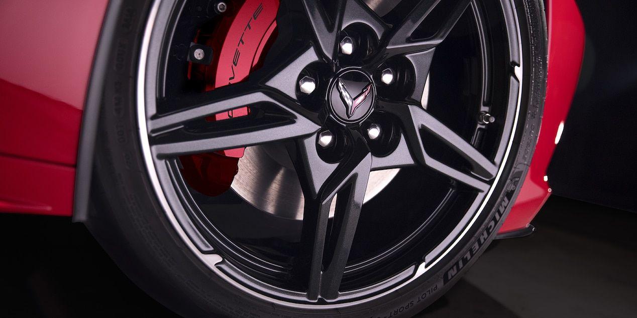 2020 Chevrolet Corvette MidEngine Sports Car Wheels Close