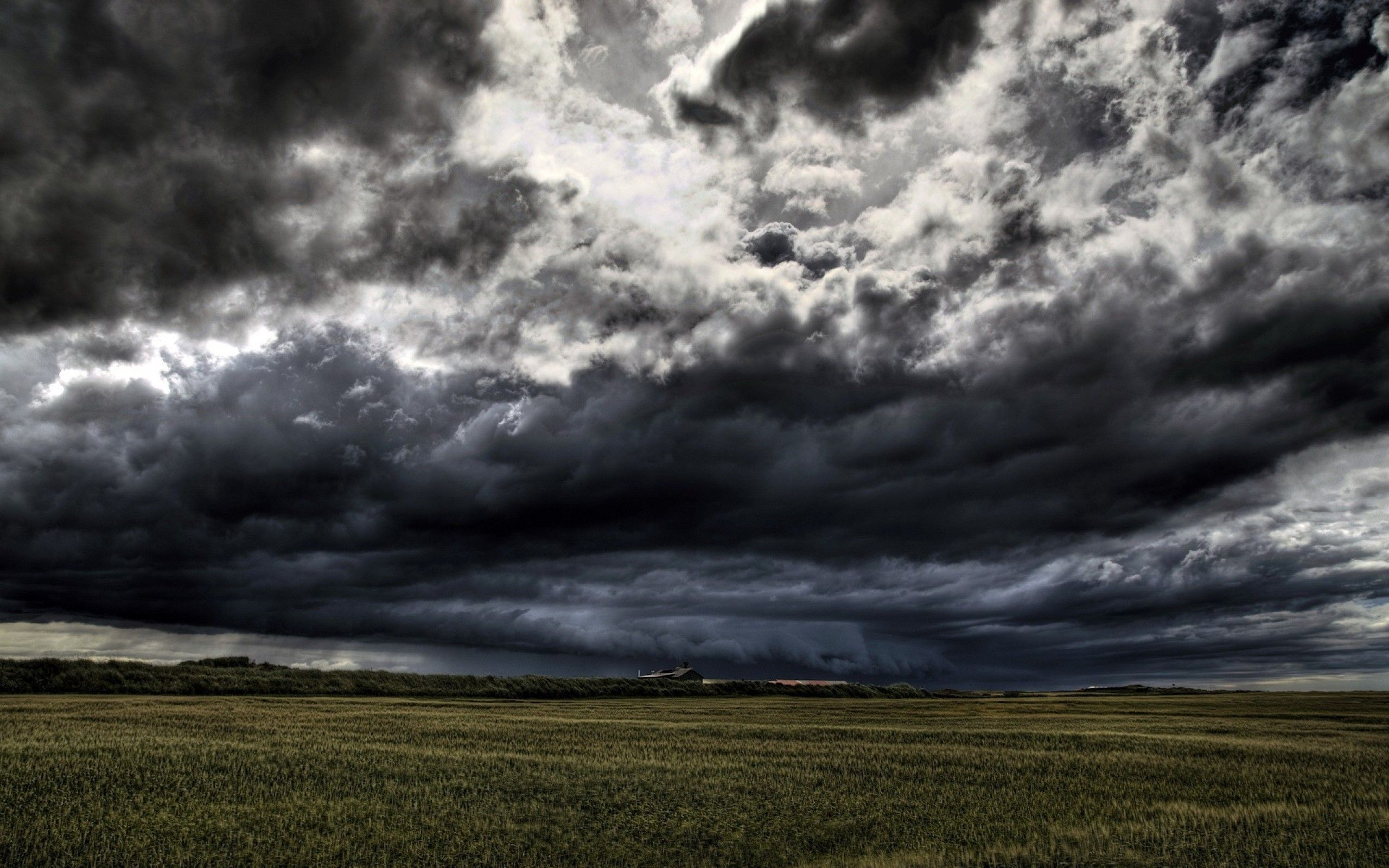 Awesom Storm Front That Darkened >> Dark Black Clouds Over Field Environment Nature General Cloud