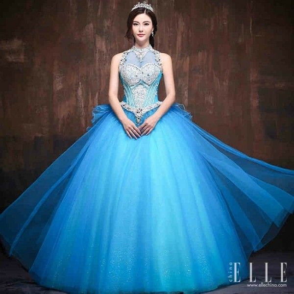 Blue Wedding Dresses Princess Snow Queen Dress Me Up Red