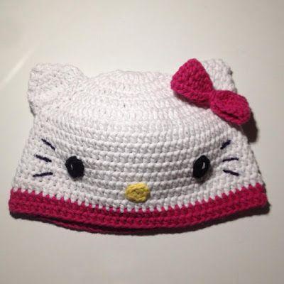 Crochet And Other Stuff Hello Kitty Hat Free Crochet Pattern