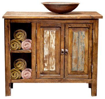 Bathroom Vanity with Storage, 36x20x32 rustic-bathroom-vanities-and