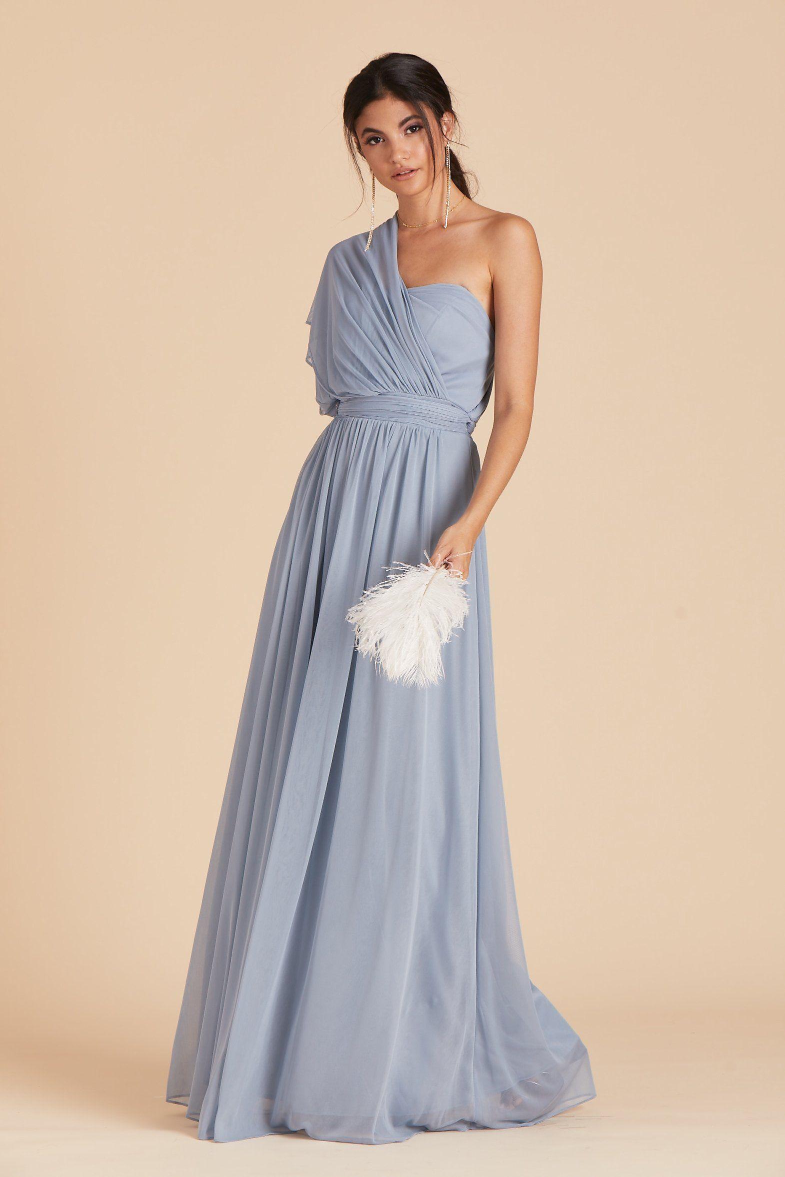 c03939093b9 Chicky Convertible Dress - Dusty Blue