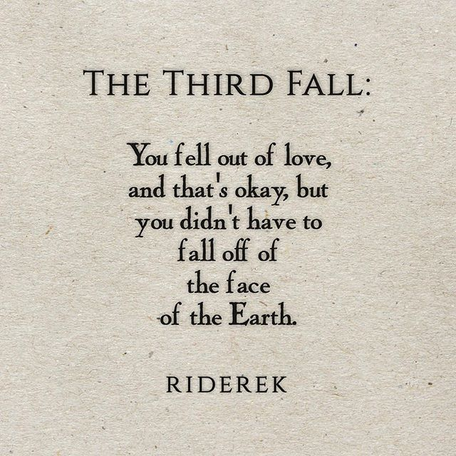 Love Each Other When Two Souls: Fall One: Falling In Love. Fall Two: Falling Out Of Love