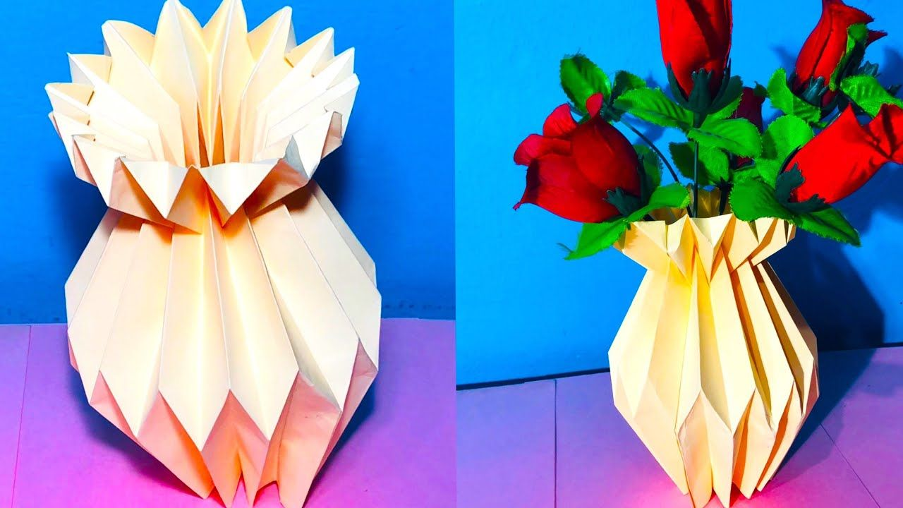 Easy Paper Craft Idea Art And Craft With Paper How To Make
