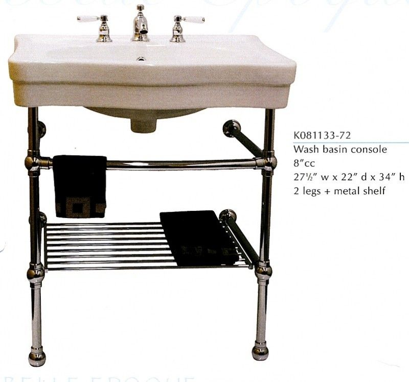 Console Sink With Metal Legs Foter Basement In 2019 Console
