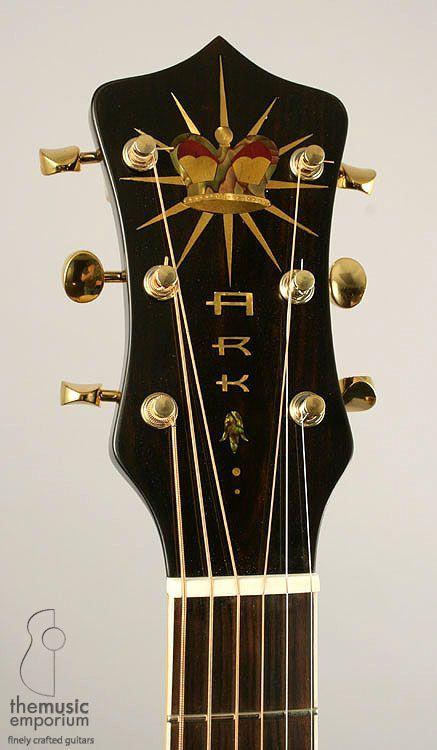 Ark New Era Recording Acoustic Guitar Headstock Guitar Inlay Acoustic Guitar Luthier Guitar