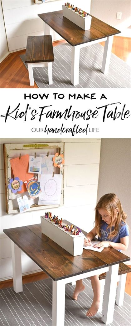 Photo of How to Make a DIY Farmhouse Kid's Table – Our Handcrafted Life