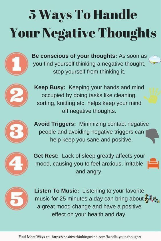 Handling Your Negative Thoughts, The Positive Way - Positive Thinking Mind