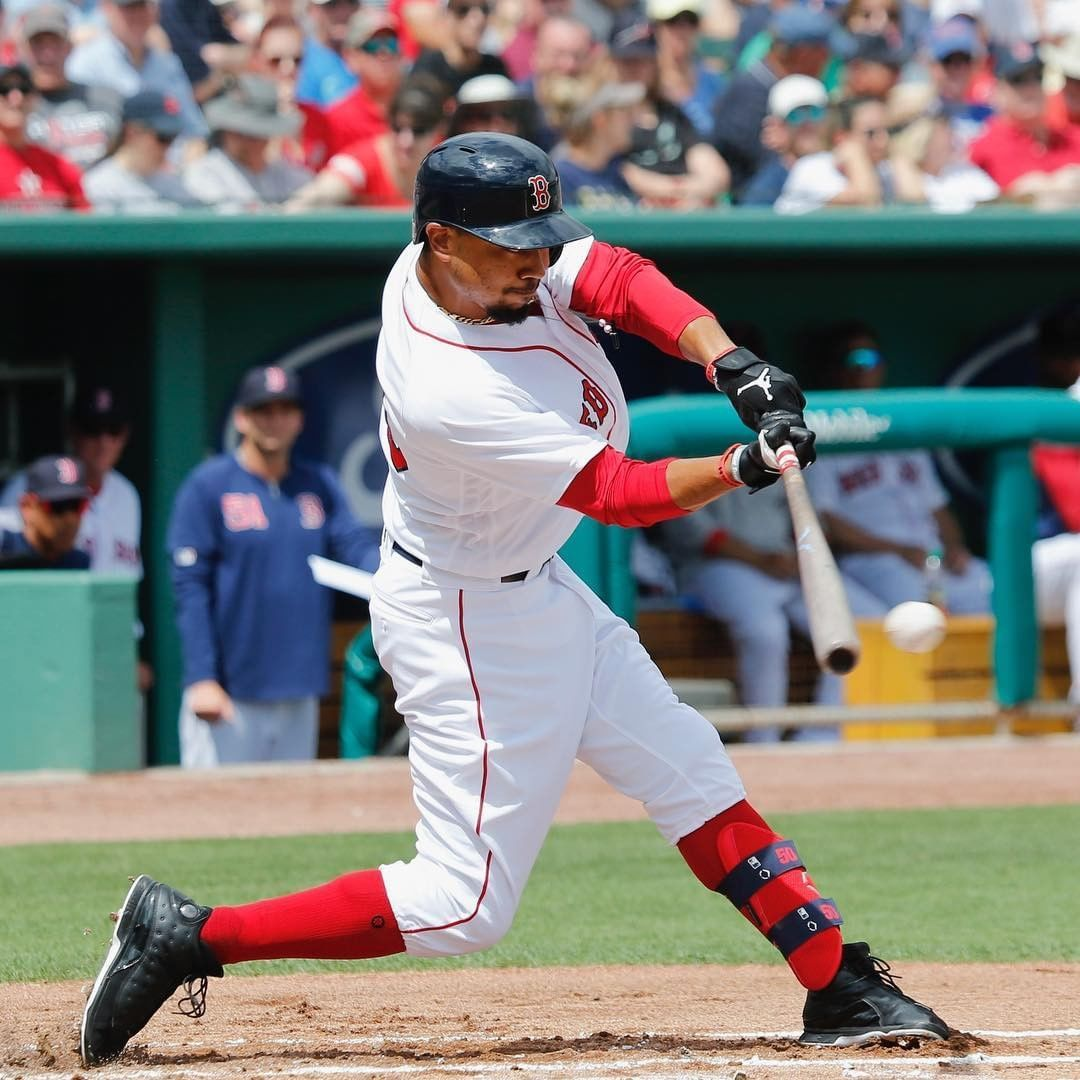 Hitters Take Notes From One Of The Best Hitters In The Game A Powerful Back Knee Hip Drive And Hitting Against A Firm Mookie Betts Train System Sports Jersey