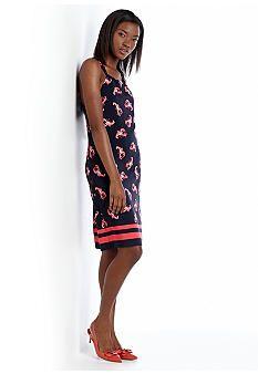 crown & ivy™ Seaside Halter Shift Dress