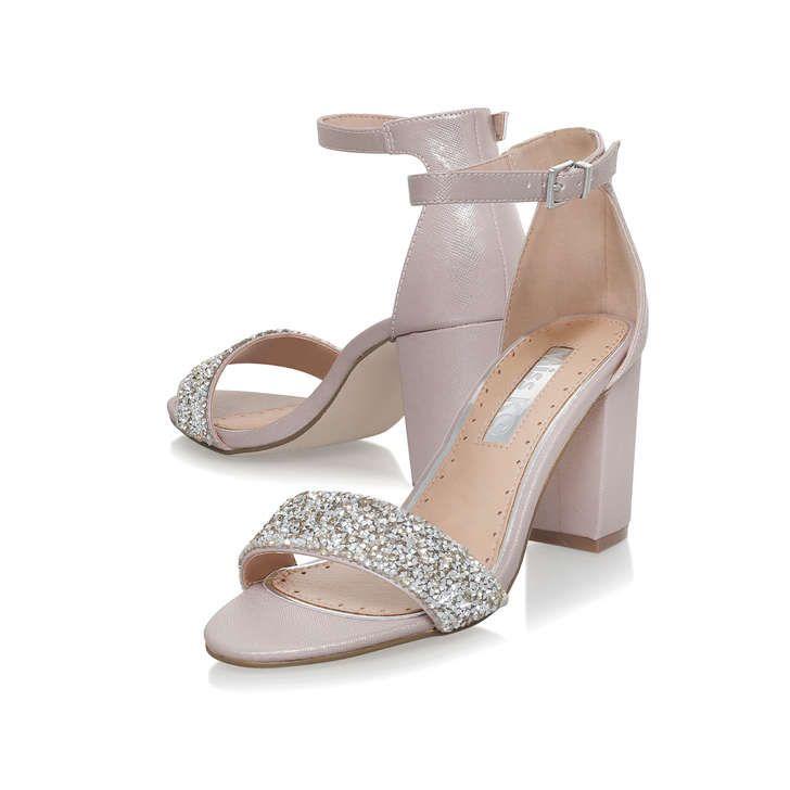 Miss KG Kurt Geiger Pale Pink Nude Platform Block Heel