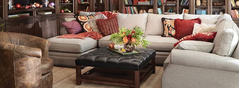 Landsbury Sectional Elegant Family Room Arhaus Furniture Sectional