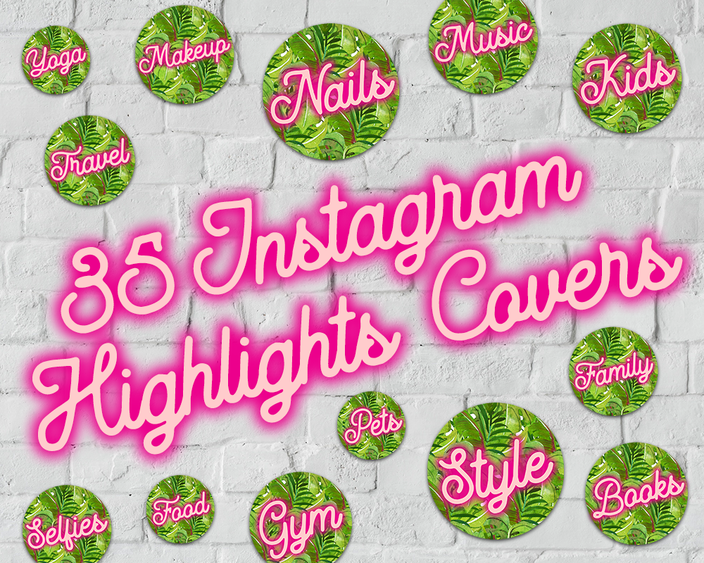 Instagram Highlights, Insta Story Cover Text Icons