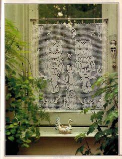 Häkeln Filethäkeln Gardine Crochet Curtain Cortinas De Croche